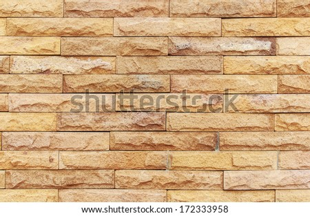 sand stone wall Background of decorate - stock photo