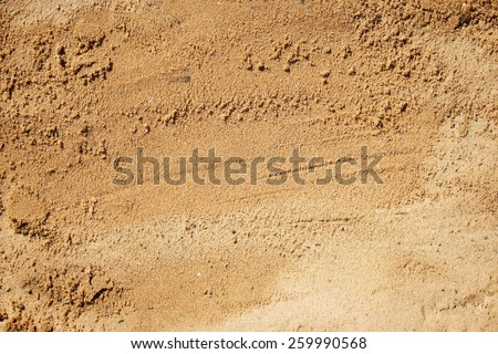 Sand surface for background, top view. - stock photo