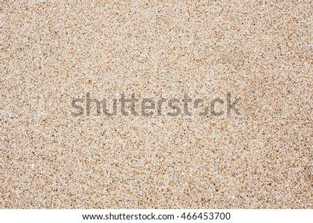 Sand texture background at the beach in Thailand.