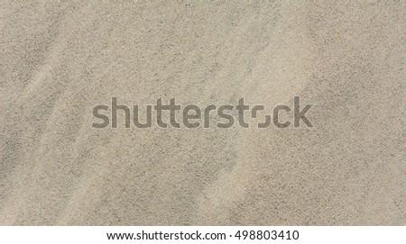 Sand Texture Top View With Bird Footprints