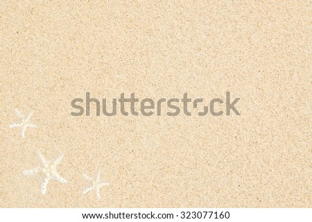 Sand Texture with starfish. Sand Background with seastar. - stock photo