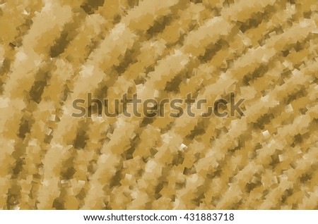 Sand to Walnut Brown Cubist Arched Rough Stripe Wax Texture