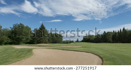 Sand trap in a golf course, Hecla Grindstone Provincial Park, Manitoba, Canada