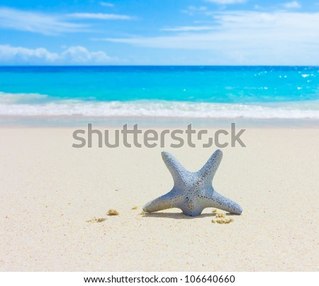 Sand Waves Sea - stock photo