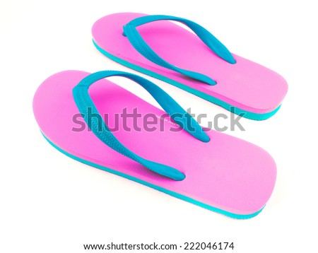 sandal isolated on white background - stock photo
