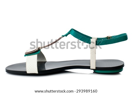 Sandal isolated on white background.