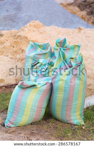 Sandbags for construction