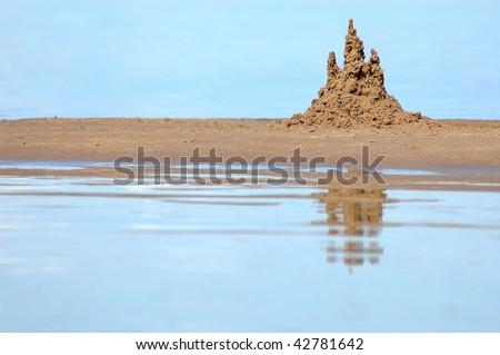 Sandcastle - stock photo
