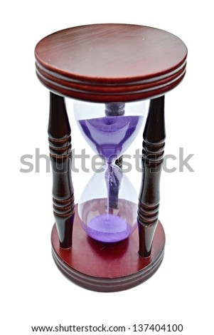 sandglass isolated on the white background - stock photo