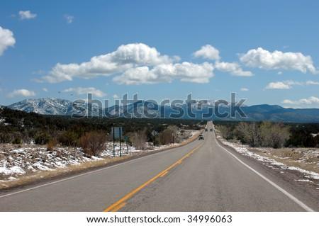 Sandia Mountains just outside of Albuquerque, New Mexico. - stock photo
