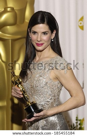 Sandra Bullock, Best Performance by an Actress in a Leading Role for The Blind Side, 82nd Annual Academy Awards Oscars Ceremony-PRESS ROOM, The Kodak Theatre, Los Angeles March 7, 2010 - stock photo