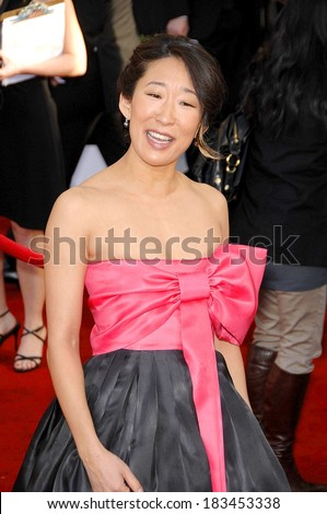 Sandra Oh at ARRIVALS - 44th Annual Screen Actors Guild Awards, SAG,, The Shrine Auditorium & Exposition Center, Los Angeles, CA, January 27, 2008