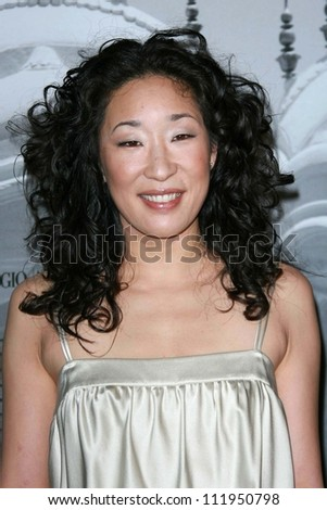 Sandra Oh at the Giorgio Armani Prive Show to celebrate the Oscars. Green Acres, Los Angeles, CA. 02-24-07