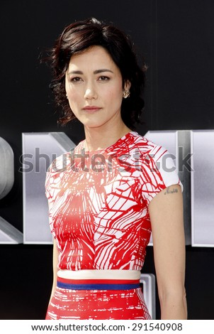 Sandrine Holt at the Los Angeles premiere of 'Terminator Genisys' held at the Dolby Theatre in Hollywood, USA on June 28, 2015.  - stock photo