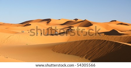 sandscapes in the desert - stock photo