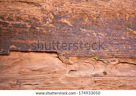 Sandstone Canyon Wall Background - stock photo