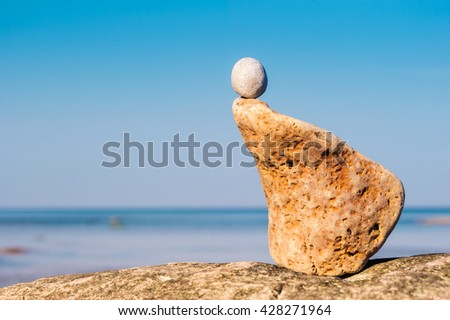 Sandstone, natural textured shape - stock photo