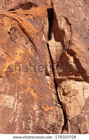 Sandstone Rock Canyon Wall - stock photo