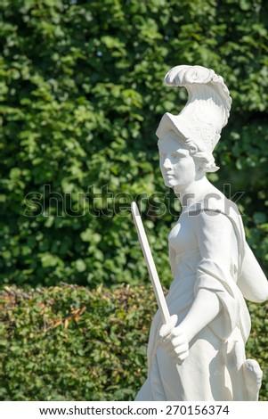 Sandstone statue of Europe (1708), Herrenhausen Gardens, Hannover, Europe - stock photo