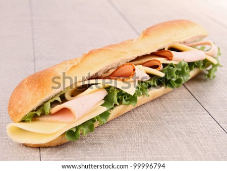 sandwich - stock photo