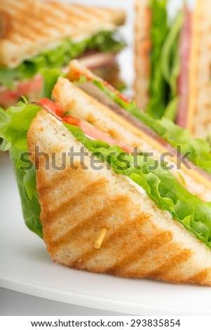 Sandwich, Bread, Food. - stock photo