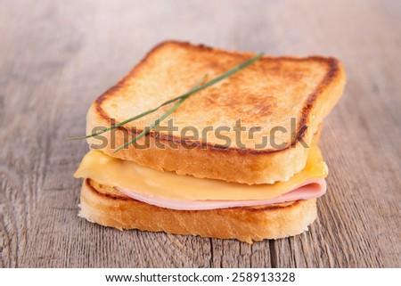 sandwich, croque monsieur - stock photo