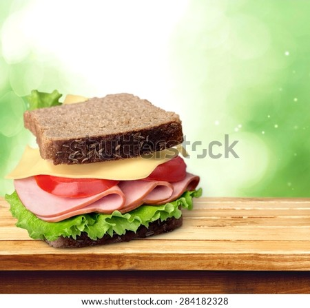 Sandwich, Delicatessen, Food. - stock photo