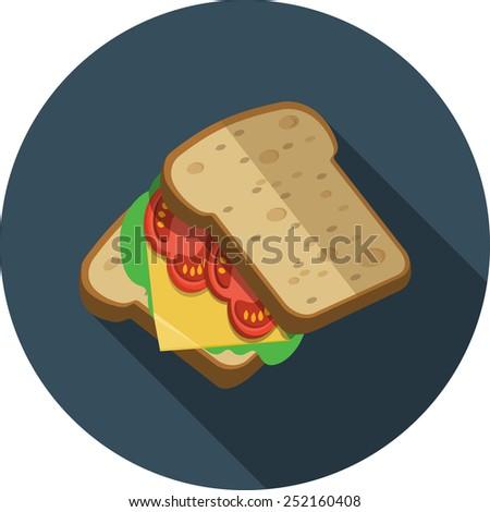 Sandwich Flat Illustration  - stock photo