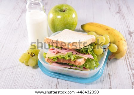 sandwich, lunch box