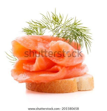 Smoked salmon soft cheese on piece stock photo 76014478 for Canape sandwich