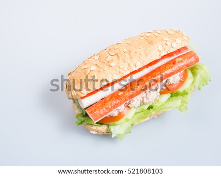 sandwich or health sandwich on the background