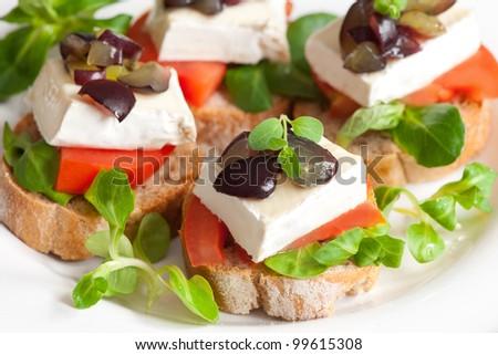 Sandwich platter - stock photo
