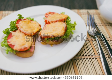 sandwich with cheese