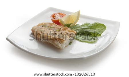 Sandwich with cottage cheese and parsley on the white plate