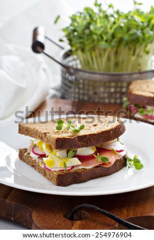 ... sandwiches open face egg salad sandwich with radish and cucumber