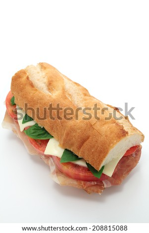 Sandwich with uncured ham