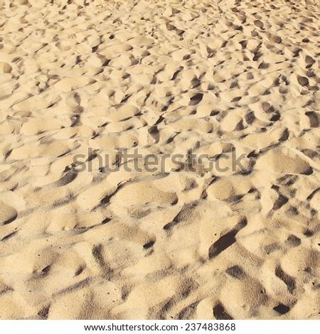 Sandy beach as background - stock photo