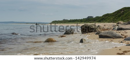 Sandy Beach at Aquinnah, Massachusetts - stock photo