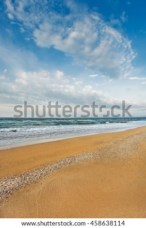 sandy beach on the sea