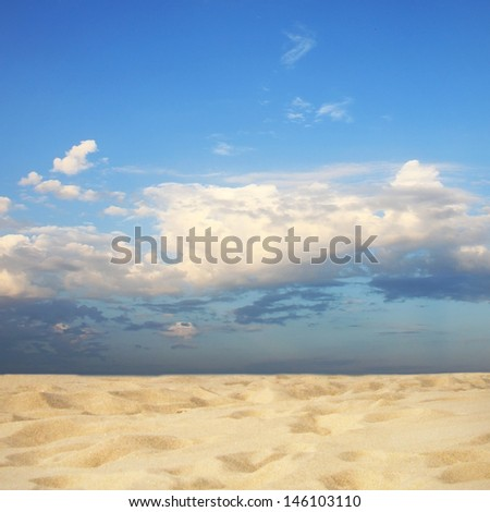 Sandy coast on sunny day  - stock photo