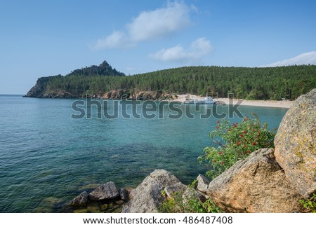 Sandy cove of Lake Baikal