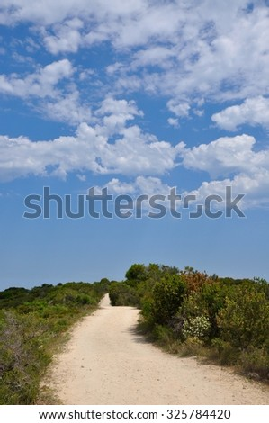 Sandy Path with Clouds/Sandy Path with Clouds/Manning Park, Western Australia