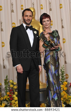 Sandy Powell & Tom Ford at the 82nd Academy Awards at the Kodak Theatre, Hollywood. March 7, 2010  Los Angeles, CA Picture: Paul Smith / Featureflash
