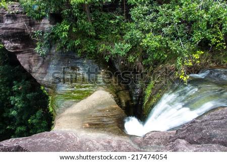 Sang Chan Waterfall at Ubon Ratchathani, Thailand - stock photo