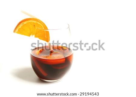 Sangria glass - stock photo