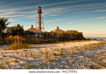 Sanibel Island Lighthouse in Sanibel Island, Florida - stock photo