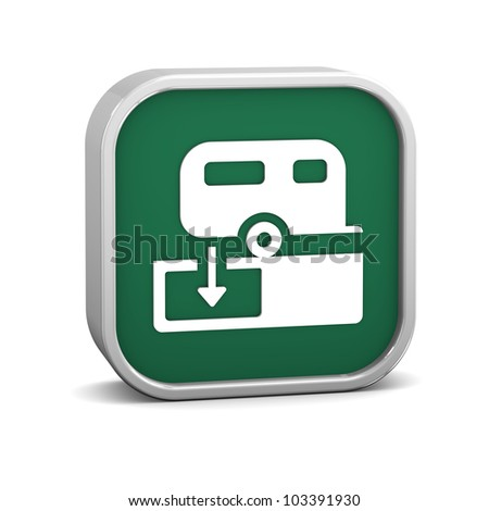 Sanitary Disposal Station sign on a white background. Part of a series. - stock photo