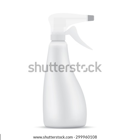 Sanitary Spray Bottle - stock photo