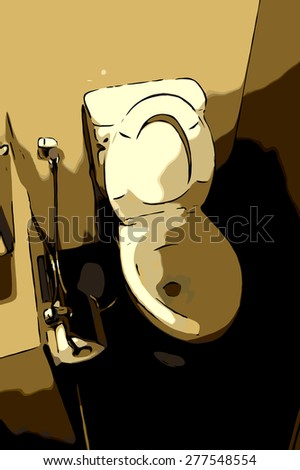 Sanitary ware in the bathroom - stock photo