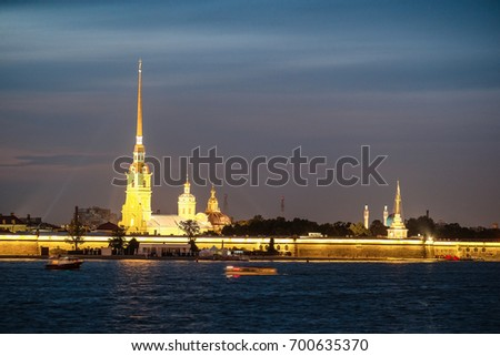 Sankt-Peterburg, Russia - August, 19, 2017: Peter and paul fortress in Sankt-peterburg